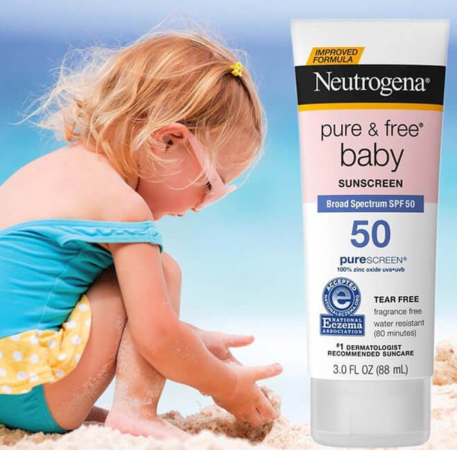 Kem chống nắng neutrogena Pure and Free Baby SPF 50