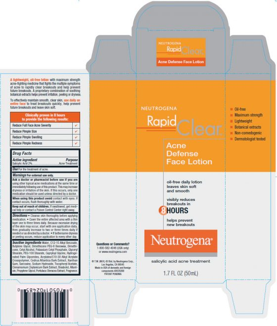 Neutrogena Rapid Clear Acne Defense Face Lotion 1