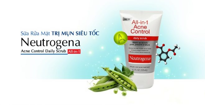 Neutrogena All in 1 Acne Control Daily Scrub 1