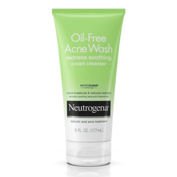 sua rua mat Neutrogena Oil Free Acne Wash Redness Soothing Cream Cleanser